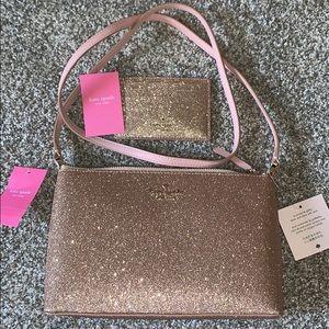 Kate Spade Glitter Joeley Crossbody Cardholder Set